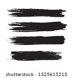 brush stroke set isolated on... | Shutterstock .eps vector #1325615213