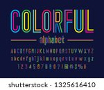 colorful line condensed... | Shutterstock .eps vector #1325616410