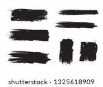 brush stroke set isolated on... | Shutterstock .eps vector #1325618909