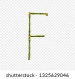 vector bamboo alphabet. capital ... | Shutterstock .eps vector #1325629046