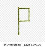 vector bamboo alphabet. capital ... | Shutterstock .eps vector #1325629103