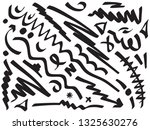 hand drawing mixed shapes | Shutterstock .eps vector #1325630276