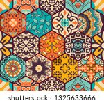 seamless colorful patchwork... | Shutterstock .eps vector #1325633666