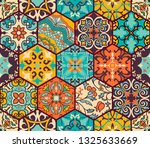seamless colorful patchwork... | Shutterstock .eps vector #1325633669