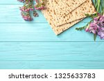 flat lay composition of matzo... | Shutterstock . vector #1325633783