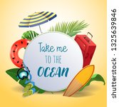 take me to the ocean.... | Shutterstock .eps vector #1325639846
