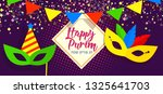 happy purim  jewish celebration ... | Shutterstock .eps vector #1325641703
