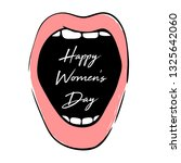 happy women's day greeting card ... | Shutterstock .eps vector #1325642060