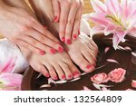 spa background with a beautiful ... | Shutterstock . vector #132564809