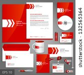 red corporate identity template ... | Shutterstock .eps vector #132565364