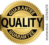 quality guarantee golden label  ... | Shutterstock .eps vector #132565670