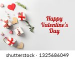 composition with hearts and... | Shutterstock . vector #1325686049