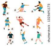 soccer players set  male... | Shutterstock .eps vector #1325691173