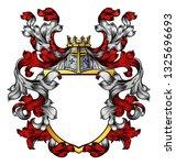 a coat of arms crest heraldic... | Shutterstock .eps vector #1325696693
