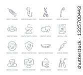 set of 16 thin linear icons... | Shutterstock .eps vector #1325700443