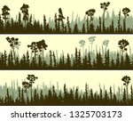 set of horizontal banners of... | Shutterstock .eps vector #1325703173