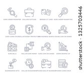 set of 16 thin linear icons... | Shutterstock .eps vector #1325703446