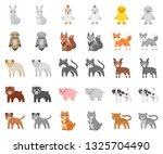 toy animals cartoon monochrom... | Shutterstock .eps vector #1325704490