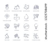 Set Of 16 Thin Linear Icons...