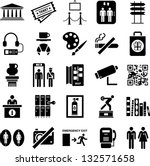 museum icons | Shutterstock .eps vector #132571658