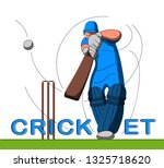 batsman playing cricket.... | Shutterstock .eps vector #1325718620