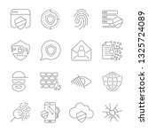 icons set of information and... | Shutterstock .eps vector #1325724089