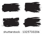 brush stroke set isolated on... | Shutterstock .eps vector #1325733206