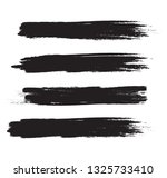 brush stroke set isolated on... | Shutterstock .eps vector #1325733410