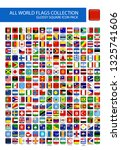 all world flags round square... | Shutterstock .eps vector #1325741606