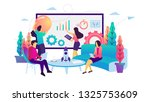 vector illustration group of...
