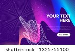 touch the future hand analytics.... | Shutterstock .eps vector #1325755100