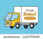 bakery truck. fresh bread... | Shutterstock .eps vector #1325755439