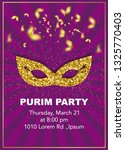 happy purim  jewish celebration ... | Shutterstock .eps vector #1325770403