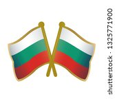 two crossed bulgaria flags pins ... | Shutterstock .eps vector #1325771900