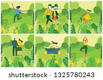 vector nature eco background... | Shutterstock .eps vector #1325780243