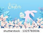 happy easter festive background.... | Shutterstock .eps vector #1325783036