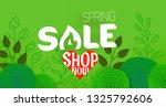 spring sale offer. shopping... | Shutterstock .eps vector #1325792606