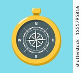vector science compass icon.... | Shutterstock .eps vector #1325795816