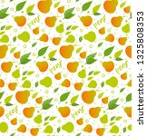seamless pattern with pears.... | Shutterstock .eps vector #1325808353