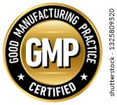 gmp  good manufacturing... | Shutterstock .eps vector #1325809520