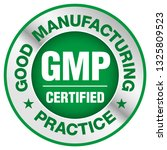 gmp  good manufacturing... | Shutterstock .eps vector #1325809523