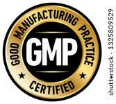 gmp  good manufacturing... | Shutterstock .eps vector #1325809529