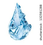 Conceptual Water Drop Falling...