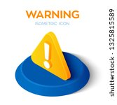 warning icon. attention 3d... | Shutterstock .eps vector #1325815589