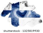 finland flag  is depicted in... | Shutterstock . vector #1325819930