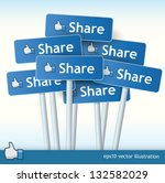 3d vector signposts with the... | Shutterstock .eps vector #132582029