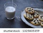glass of milk  homemade...   Shutterstock . vector #1325835359