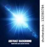 realistic sun burst with flare. ... | Shutterstock .eps vector #132583784