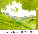 landscape with  hills  and... | Shutterstock . vector #132584420