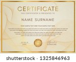 certificate template with... | Shutterstock .eps vector #1325846963